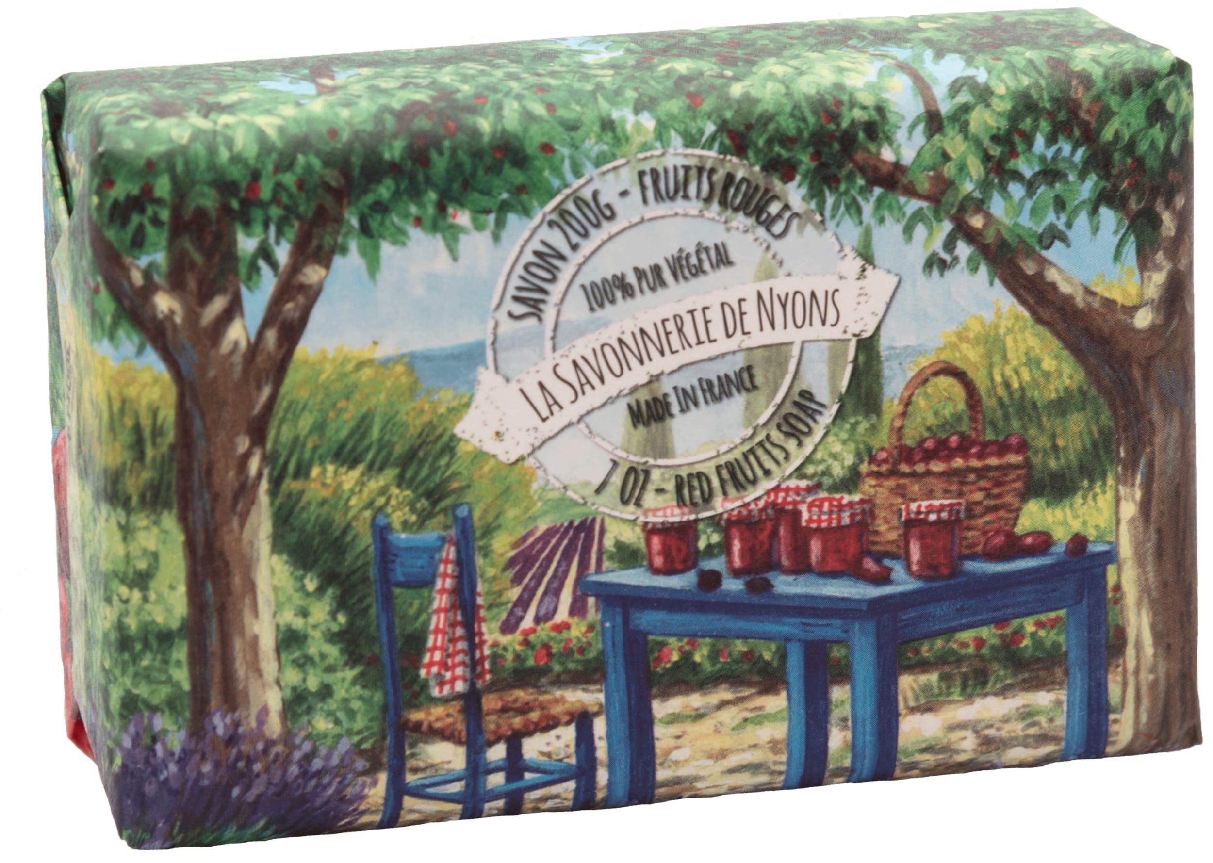 Seifen 200g in Papierverpackung - Rote Früchte