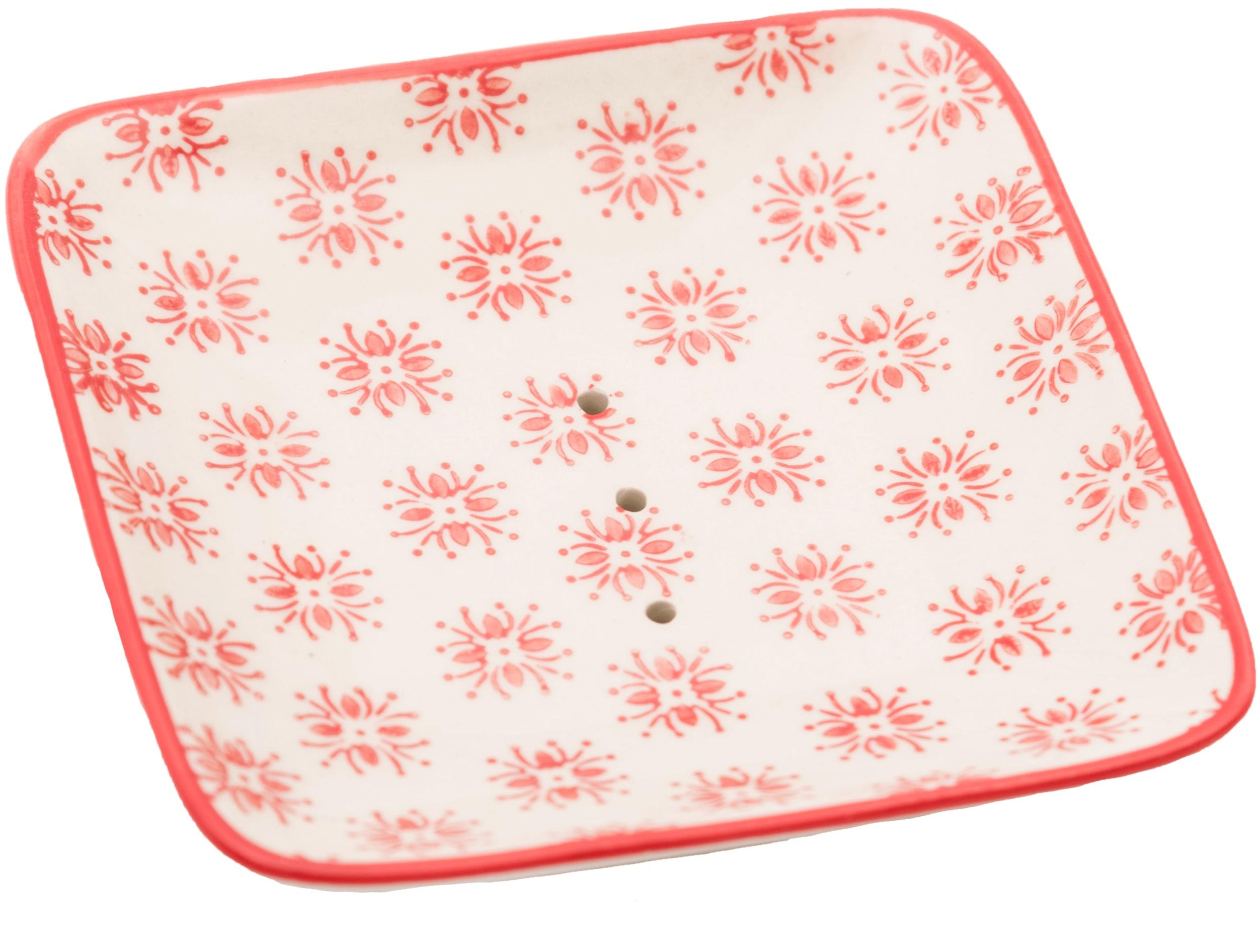 Seifenschale quadratisch - rot