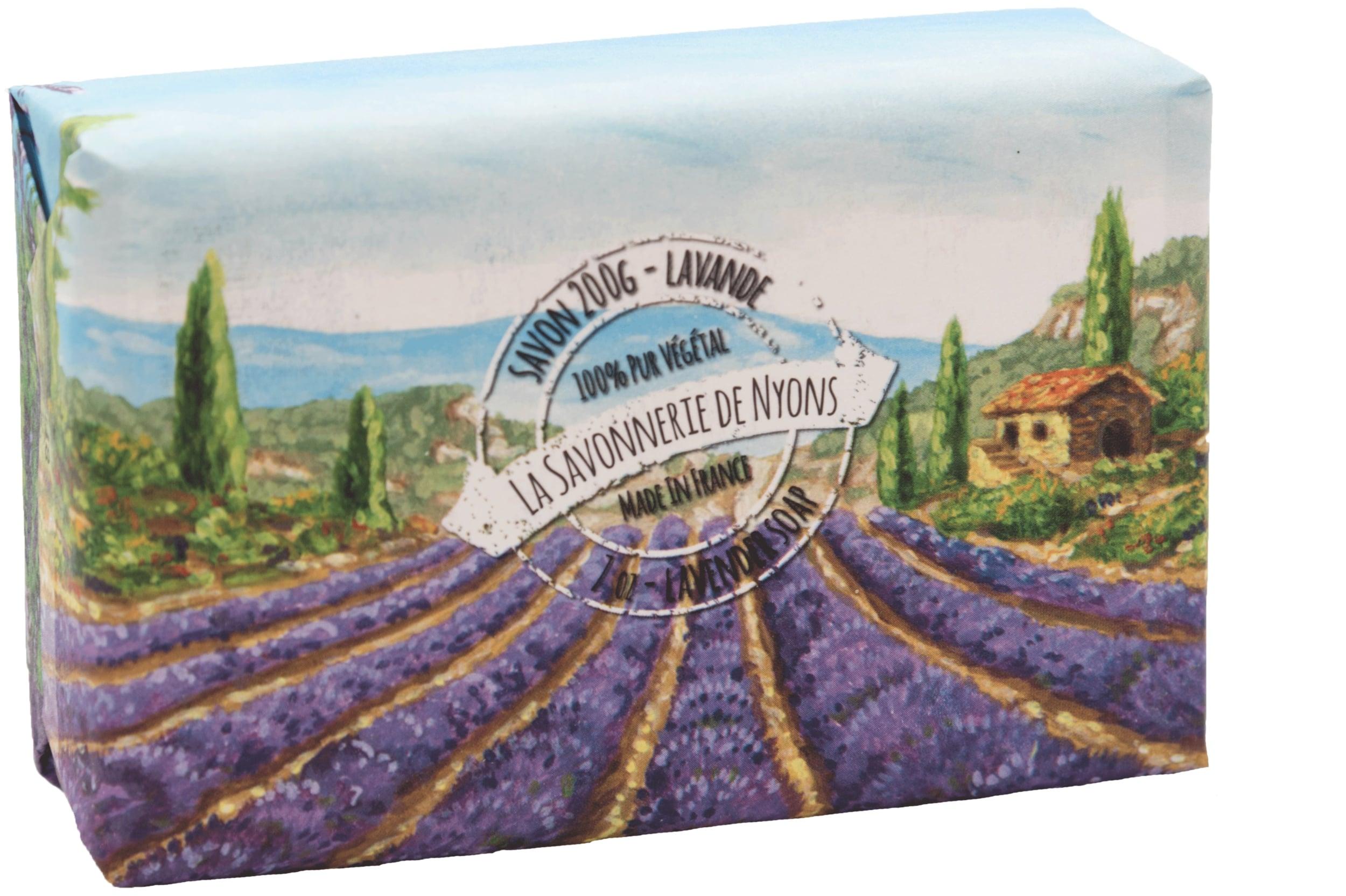 Seifen 200g in Papierverpackung - Lavendel