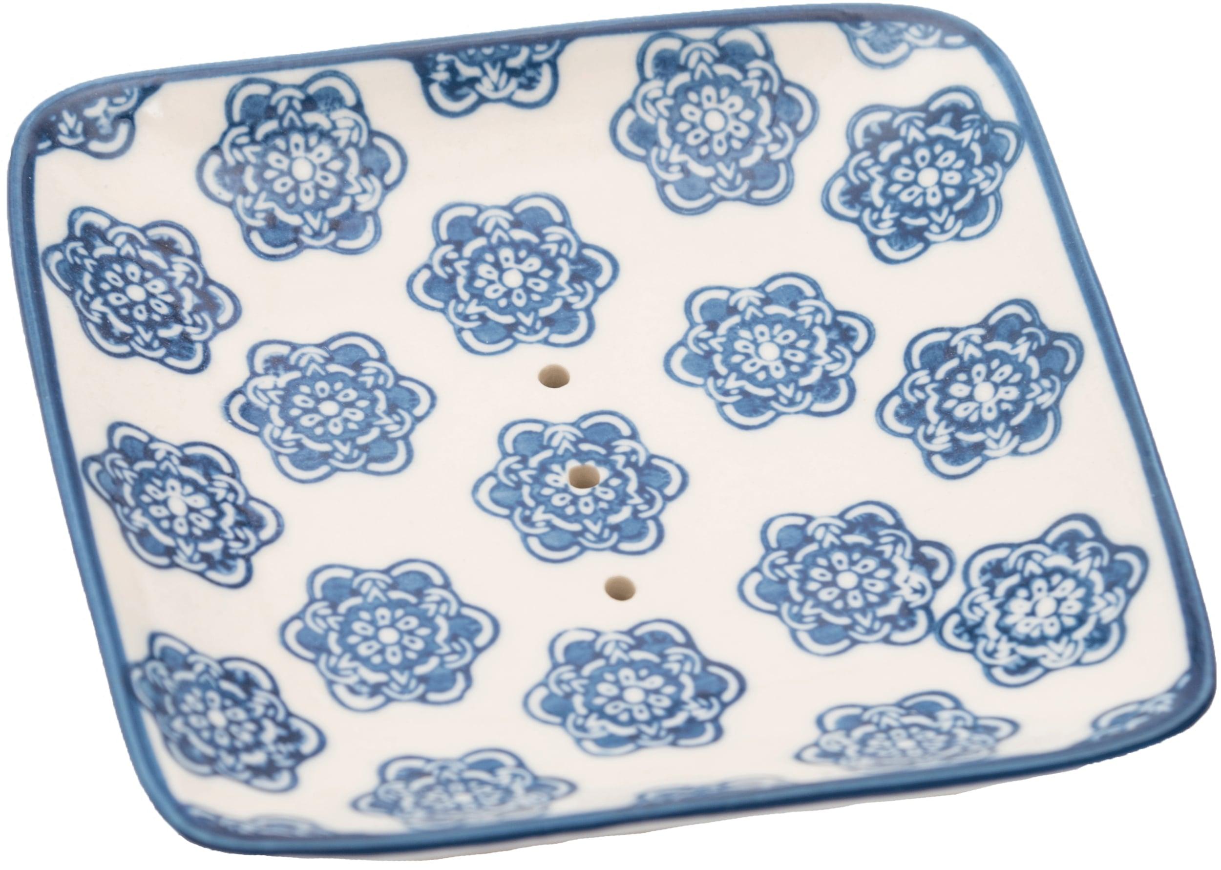 Seifenschale quadratisch - blau